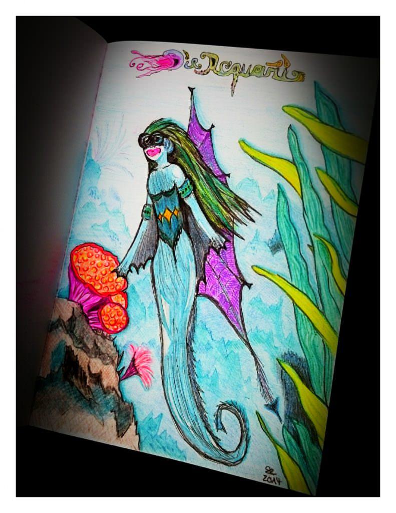Malerei Buntstifte Aquarii