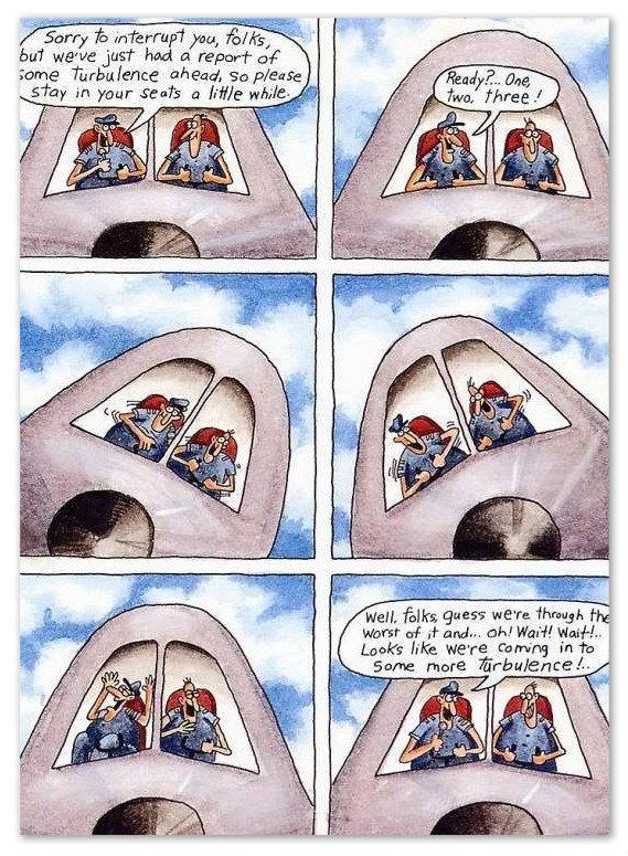 Comic Farside Piloten Australien Aquarii