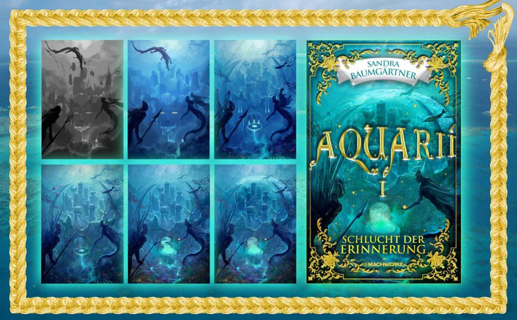 Cover Aquarii Fantasio Buchdesign Meerjungfrauen