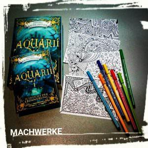 Ausmalpostkarten Aquarií Machwerke
