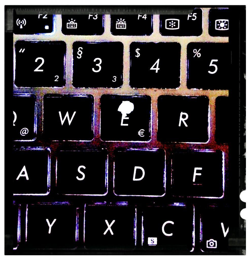 Autorenleben Tastatur Sandra Baumgärtner Fantasy