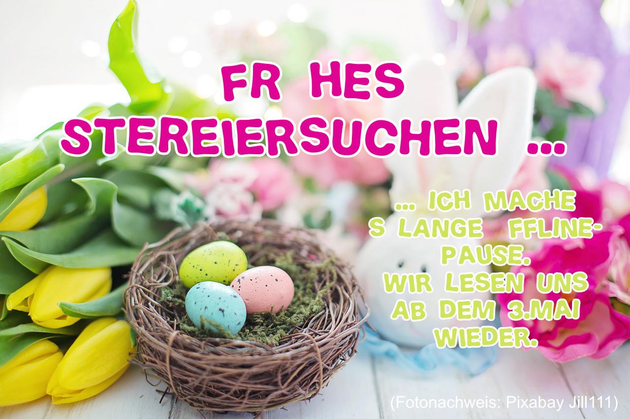 Ostern2019 Sandra Baumgärtner, Ostereier, Hasen Ostergruß